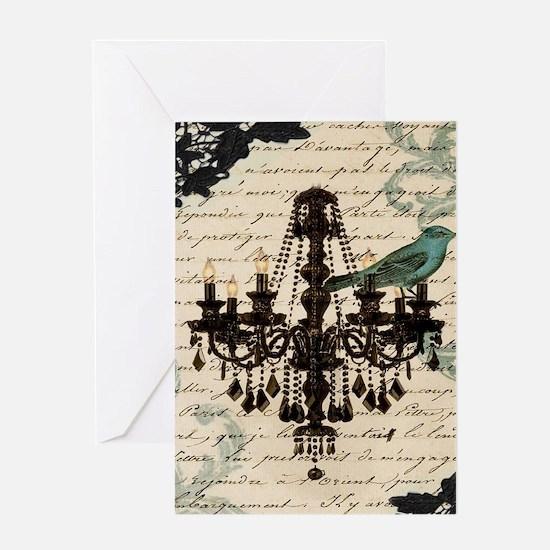 girly chandelier vintage paris Greeting Cards