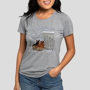 Two Corgis in winter snow T-Shirt