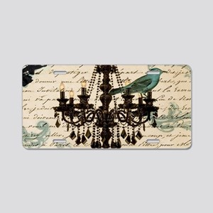girly chandelier vintage pa Aluminum License Plate