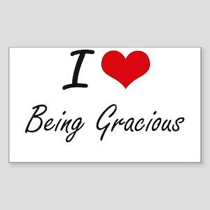 I Love Being Gracious Artistic Design Sticker