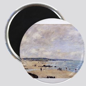 Eugene Boudin - Beach at Trouvill Magnets