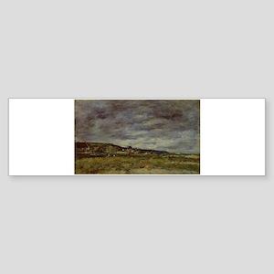 Eugene Boudin - Deauville, the Dune Bumper Sticker