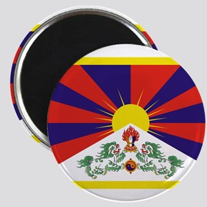 Tibetan Free Tibet Flag - Peu Rangzen Magnets