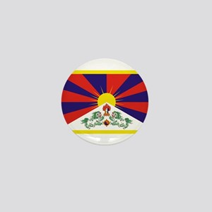 Tibetan Free Tibet Flag - Peu Rangzen Mini Button