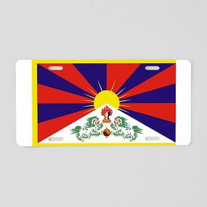 Tibetan Free Tibet Flag - P Aluminum License Plate
