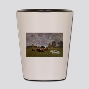 Eugene Boudin - Cows in a Pasture Shot Glass