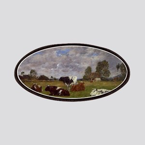 Eugene Boudin - Cows in a Pasture Patch