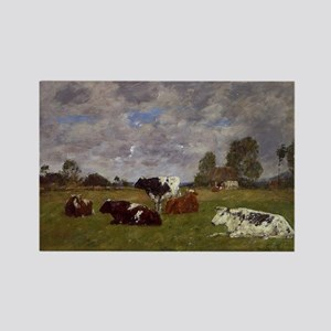 Eugene Boudin - Cows in a Pasture Magnets