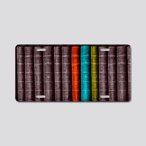 Vintage Books Bookcase Book Aluminum License Plate