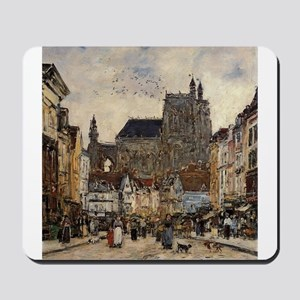 Eugene Boudin - Abbeville, Street and th Mousepad