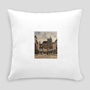 Eugene Boudin - Abbeville, Street Everyday Pillow