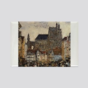 Eugene Boudin - Abbeville, Street and the Magnets