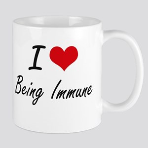 I Love Being Immune Artistic Design Mugs