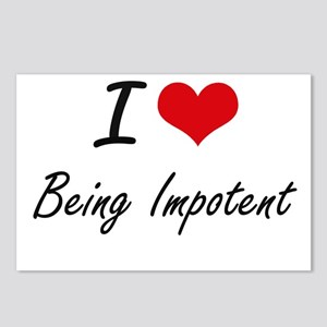 I Love Being Impotent Art Postcards (Package of 8)