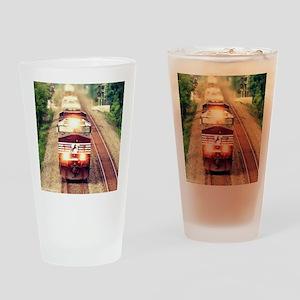Railroading Drinking Glass