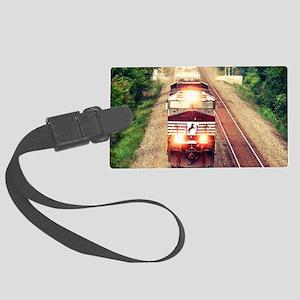 Railroading Large Luggage Tag