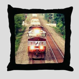 Railroading Throw Pillow