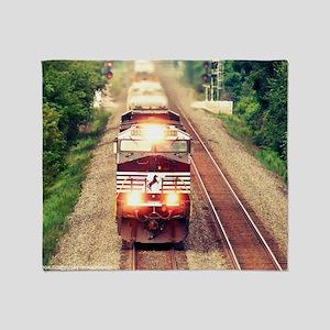 Railroading Throw Blanket