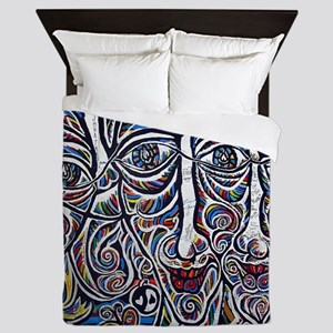 Berlin Wall Queen Duvet