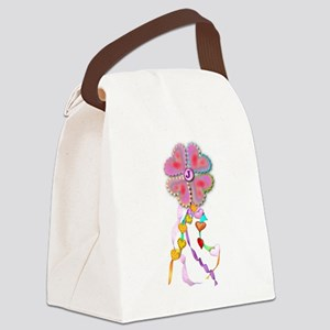 Hearts, ribbons and cookies Canvas Lunch Bag