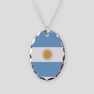 Argentinian pride argentina fl Necklace Oval Charm