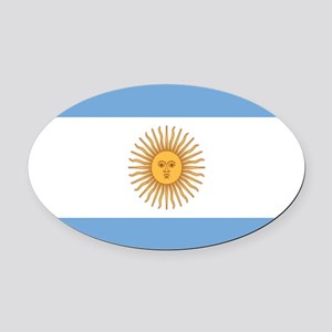 Argentinian pride argentina flag Oval Car Magnet