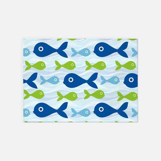 Big Eyed Fish 5'x7'Area Rug