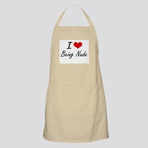 I Love Being Nude Artistic Design Apron