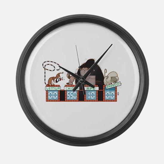 MonkeyJeopardy Large Wall Clock