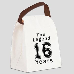 16 Legend Birthday Designs Canvas Lunch Bag