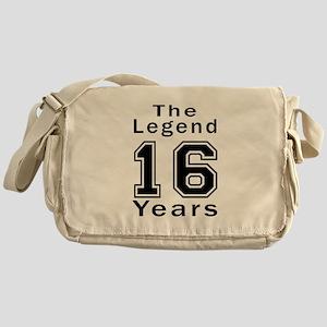16 Legend Birthday Designs Messenger Bag