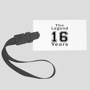16 Legend Birthday Designs Large Luggage Tag