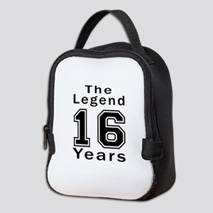16 Legend Birthday Designs Neoprene Lunch Bag