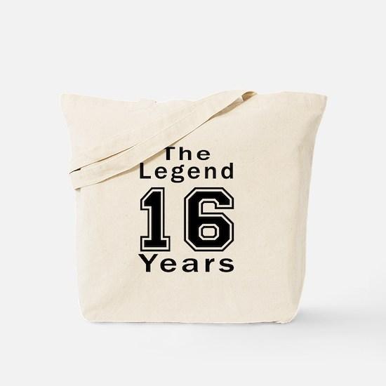 16 Legend Birthday Designs Tote Bag
