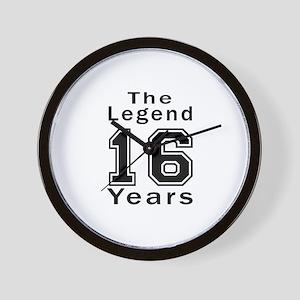 16 Legend Birthday Designs Wall Clock