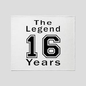 16 Legend Birthday Designs Throw Blanket