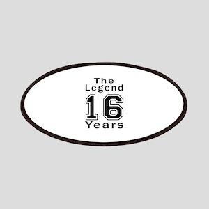 16 Legend Birthday Designs Patch