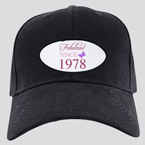 1978 Fabulous Birthday Black Cap with Patch