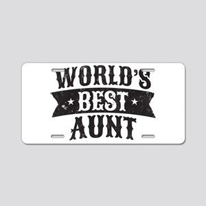 World's Best Aunt Aluminum License Plate
