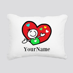 Happy Heart (p) Rectangular Canvas Pillow