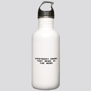 nerdword Stainless Water Bottle 1.0L