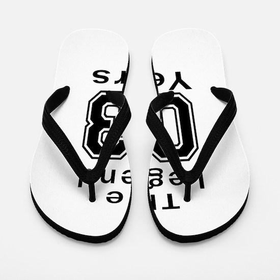 03 Legend Birthday Designs Flip Flops