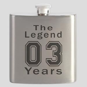 03 Legend Birthday Designs Flask