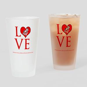 Drum Horse Love Drinking Glass