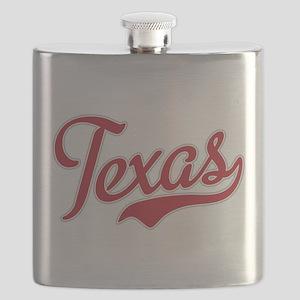Texas Script Font Red Flask