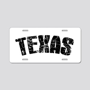 Texas Red Aluminum License Plate