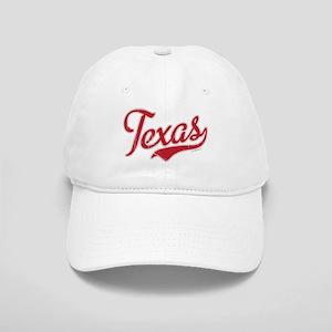 Texas Script Font Vintage Baseball Cap