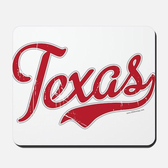 Texas Script Font Vintage Mousepad