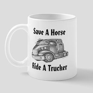 Ride A Trucker Mug