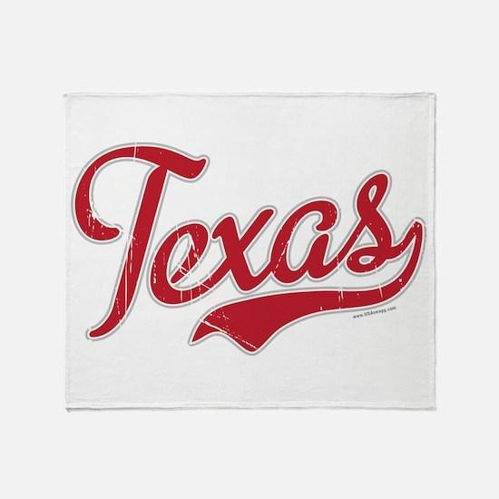 Texas Script Font Vintage Throw Blanket